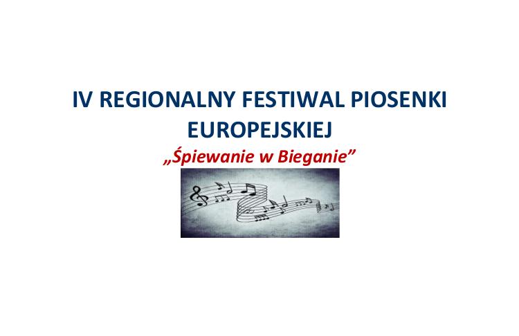 IV Regionalny Festiwal Piosenki Europejskiej