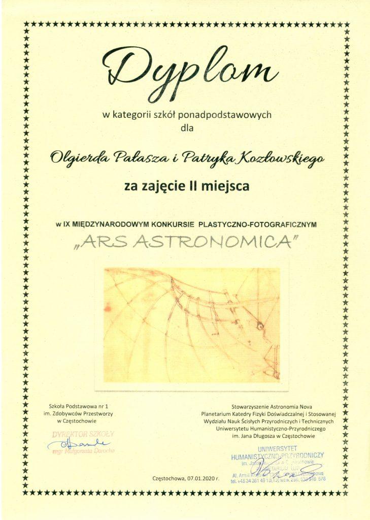 """IX Międzynarodowy Konkurs plastyczny """"Ars Astronomica"""""""