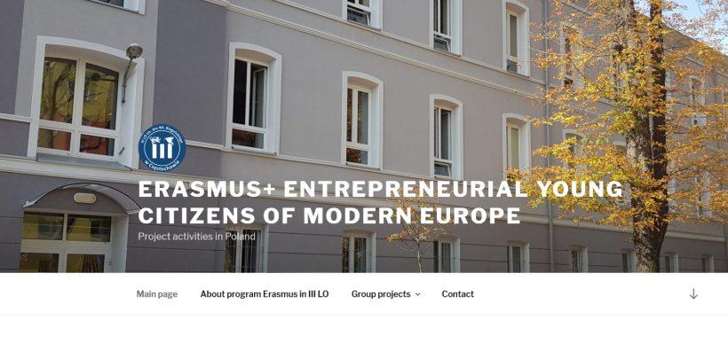 """""""Młodzi przedsiębiorczy obywatele nowoczesnej Europy"""" (Entrepreneurial Young Citizens of Modern Europe)"""
